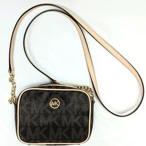 MICHAEL KORS JET SET Signature LOGO Crossbody Bag